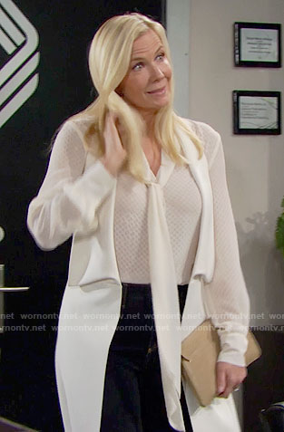 Brooke's white vest on The Bold and the Beautiful