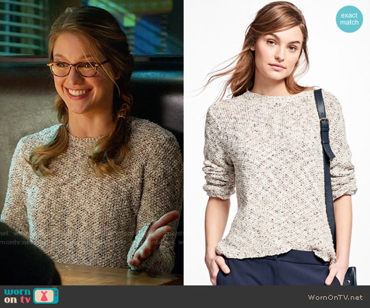 Brooks Brothers Boucle Crewneck Sweater worn by Kara Danvers (Melissa Benoist) on Supergirl