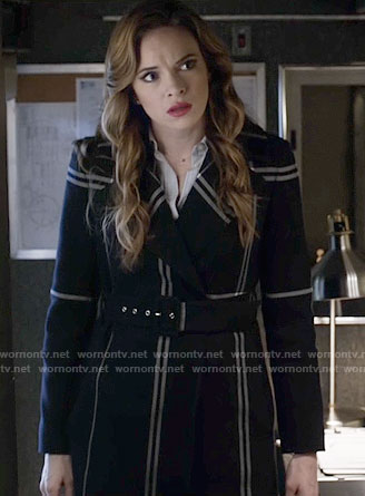 Caitlin's black plaid coat on The Flash