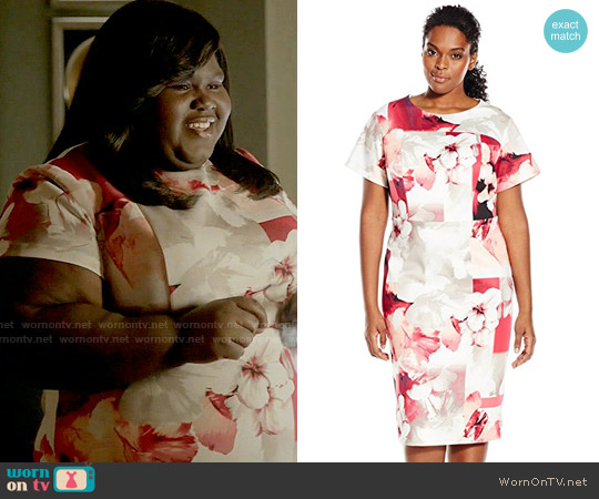 Calvin Klein Hibiscus Print Sheath Dress worn by Becky (Gabourey Sidibe) on Empire