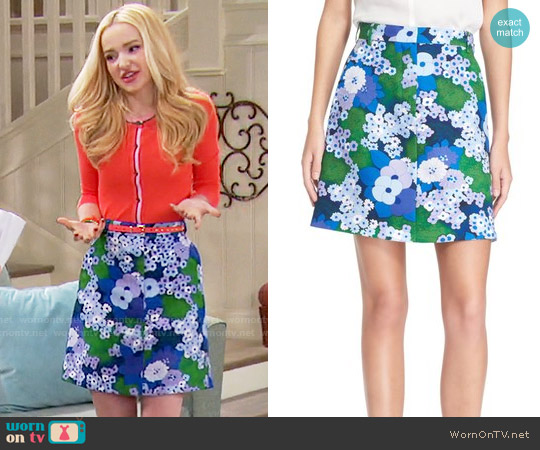 Carven Floral Print A-Line Skirt worn by Liv Rooney on Liv & Maddie