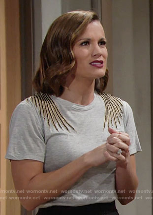 Chelsea's top with bird on the back on The Young and the Restless
