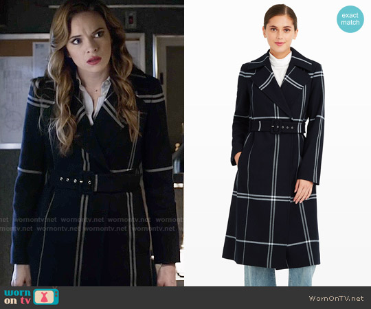 Club Monaco Simin Coat worn by Caitlin Snow (Danielle Panabaker) on The Flash