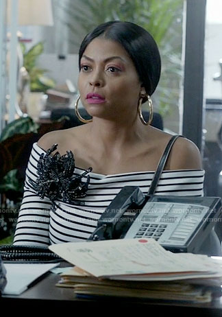 Cookie's striped off-shoulder top on Empire