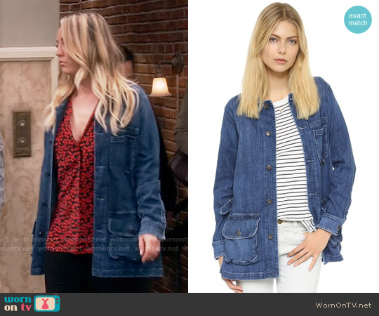 Current Elliott The Millingport Jacket worn by Penny Hofstadter (Kaley Cuoco) on The Big Bang Theory
