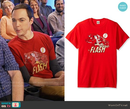 70a381947 DC Comics The Flash Crimson Comet T-Shirt worn by Sheldon Cooper (Jim  Parsons