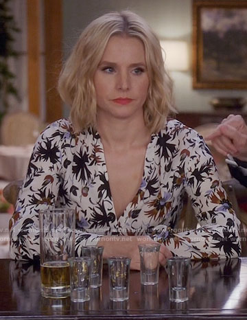 Eleanor's white floral dress on The Good Place