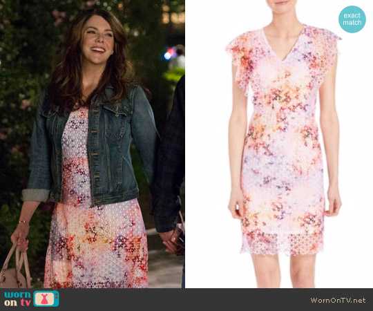 Elie Tahari Telene Cotton Flutter Sleeve Dress worn by Lorelai Gilmore on Gilmore Girls