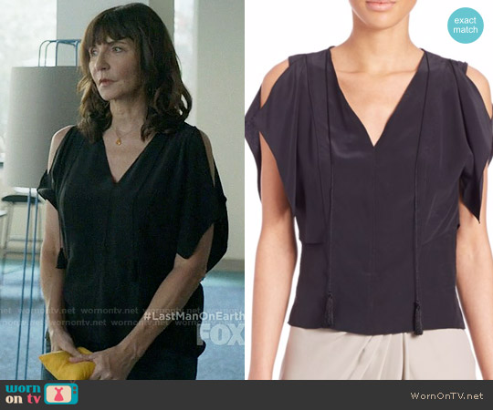 Elie Tahari Brielle Top worn by Mary Steenburgen on Last Man On Earth