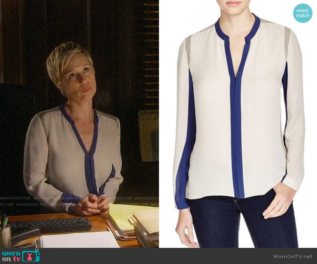 Elie Tahari Layne Top worn by Bonnie Winterbottom (Liza Weil) on HTGAWM