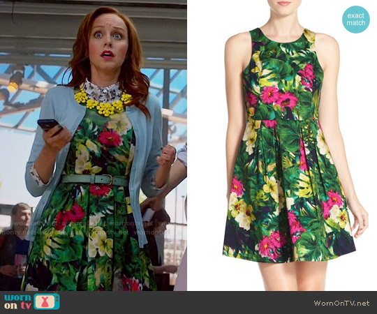 Felicity & Coco Floral Print Fit & Flare Dress worn by Lindy Booth on The Librarians