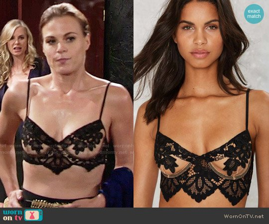 For Love & Lemons Ruby Bra worn by Gina Tognoni on The Young & the Restless