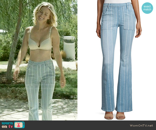 Frame Le Flare de Francoise Striped Jeans worn by January Jones on Last Man On Earth