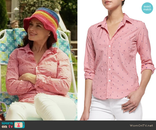 Frank & Eileen Barry Anchor Check Shirt worn by Alexis Bledel on Gilmore Girls