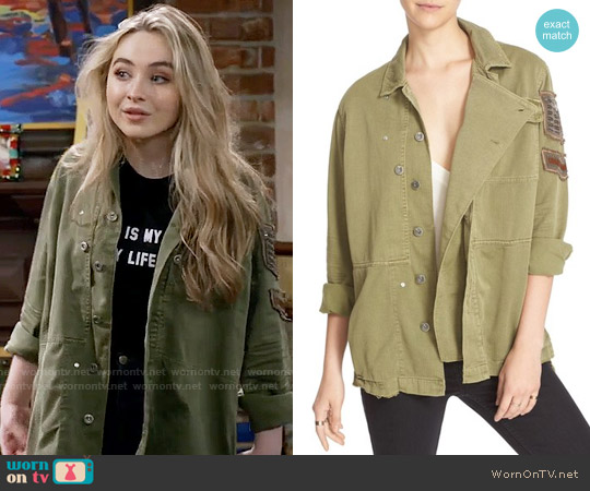 Free People Embellished Military Shirt Jacket worn by Maya Hart on Girl Meets World