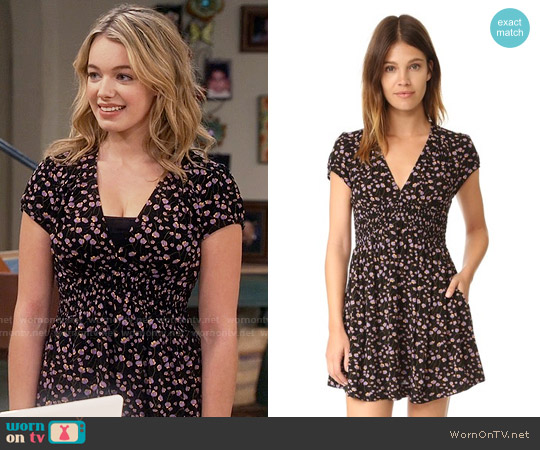 Free People Pretty Baby Dress worn by Sadie Calvano on Mom