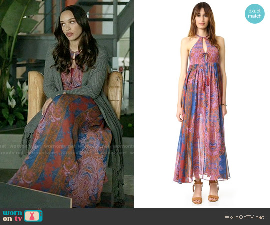 Free People Unattainable Maxi Dress worn by Cleopatra Coleman on Last Man On Earth