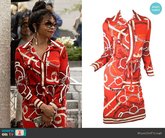 Hermes Vintage Shirtdress worn by Cookie Lyon (Taraji P. Henson) on Empire