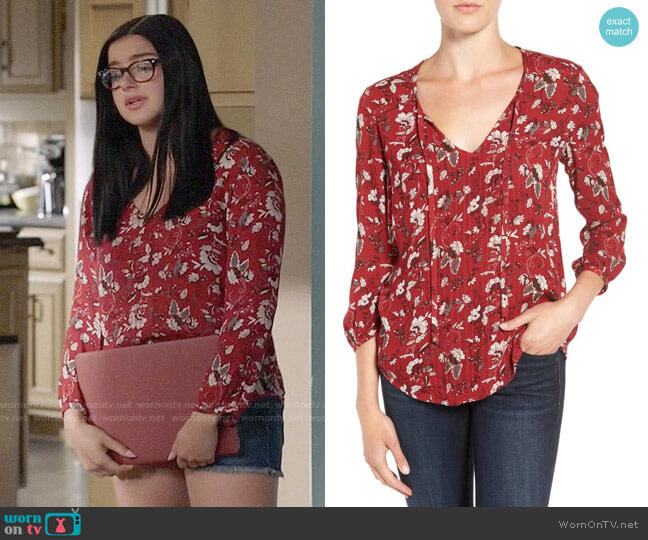 Hinge Peasant Blouse worn by Alex Dunphy (Ariel Winter) on Modern Family