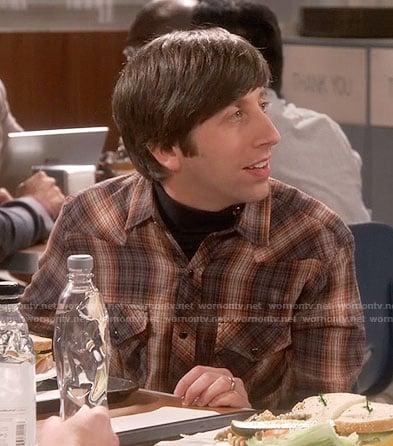 Howard's brown plaid shirt on The Big Bang Theory