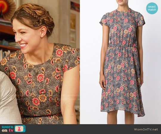 Etoile Isabel Marant Saky Dress worn by Melissa Benoist on Supergirl