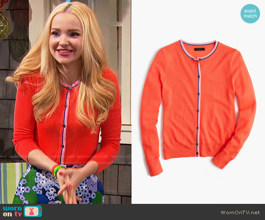 J. Crew Tipped Jackie Cardigan worn by Dove Cameron on Liv & Maddie