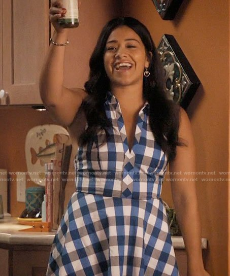 Jane's blue gingham dress on Jane the Virgin