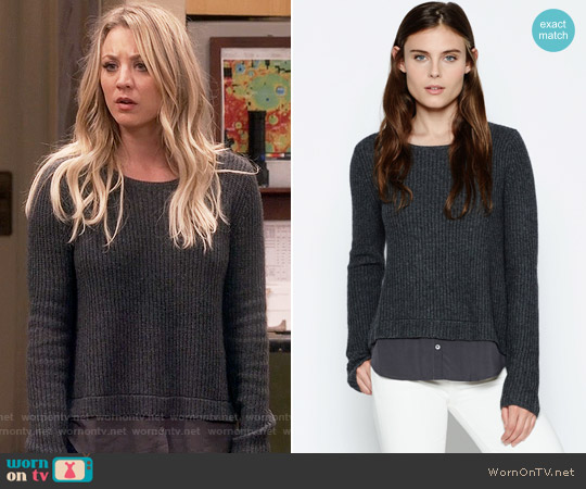 Joie Frene Sweater worn by Kaley Cuoco on The Big Bang Theory