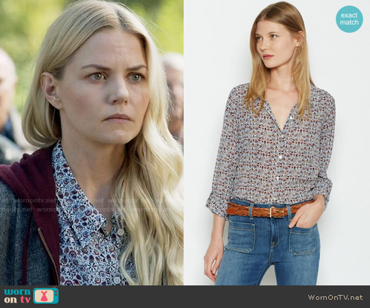 Joie Katrine Top worn by Jennifer Morrison on OUAT