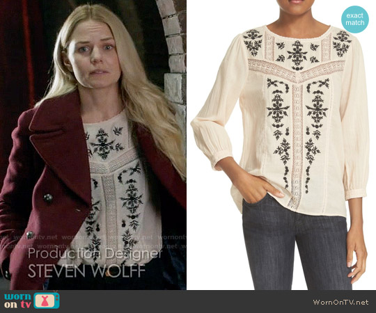 Joie Oakes Blouse worn by Jennifer Morrison on OUAT