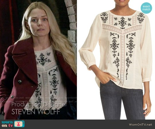 Joie Oakes Blouse worn by Emma Swan (Jennifer Morrison) on OUAT