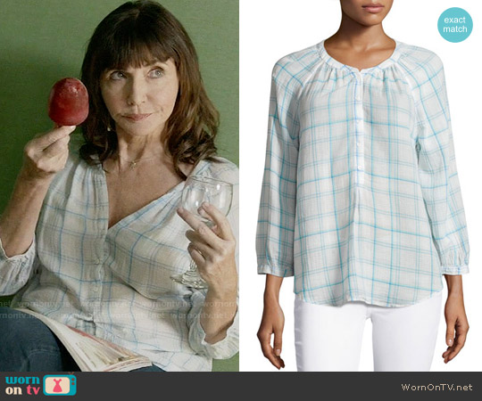 Joie Selma Tartan Blouse worn by Mary Steenburgen on Last Man On Earth