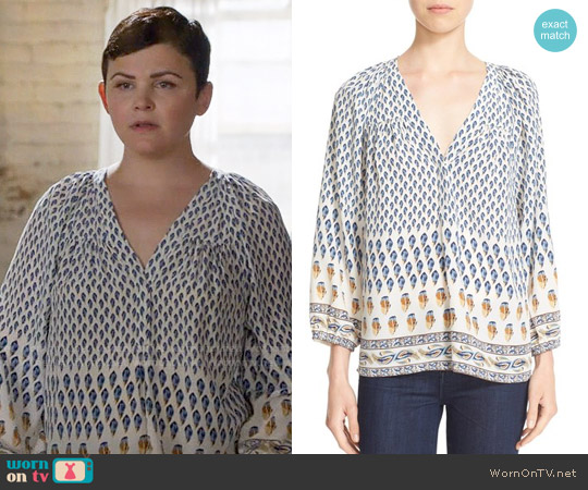 Joie Sonoma Top in Faded Sky worn by Ginnifer Goodwin on OUAT