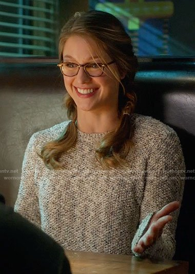Kara's boucle sweater on Supergirl