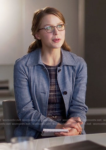 Kara's chambray coat on Supergirl