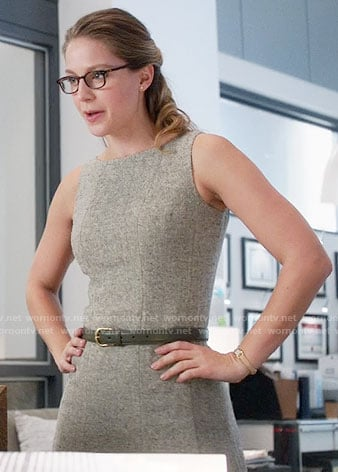Kara's tweed sleeveless dress on Supergirl