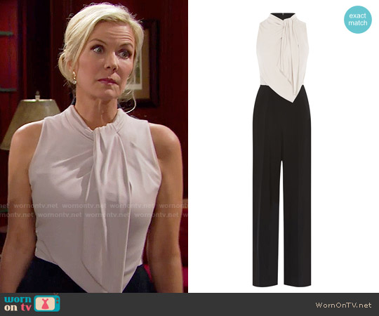 Karen Millen Debonaire Jumpsuit worn by Katherine Kelly Lang on The Bold & the Beautiful