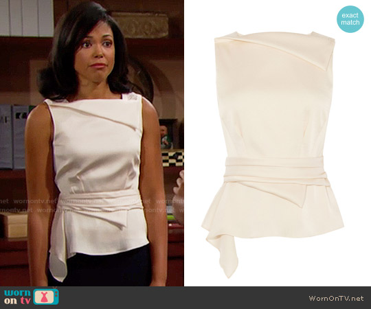 Karen Millen Origami Top worn by Karla Mosley on The Bold & the Beautiful