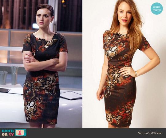 Karen Millen Snake Print Dress worn by Lena Luthor (Katie McGrath) on Supergirl