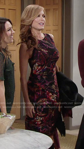 Lauren's paisley Thanksgiving dress on The Young and the Restless