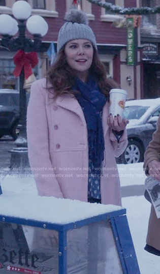 Lorelai's pink coat on Gilmore Girls