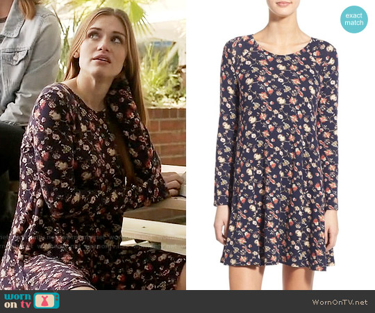 Lush 'Lauren' Long Sleeve Shift Dress worn by Holland Roden on Teen Wolf