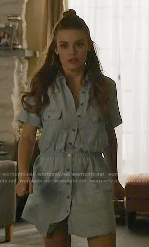 Lydia's chambray shirtdress on Teen Wolf