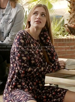 Lydia's floral long sleeved dress on Teen Wolf