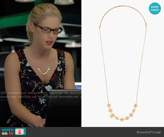 Madewell Holding Pattern Necklace worn by Felicity Smoak on Arrow