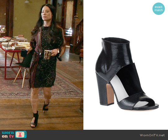 Maison Margiela Cutout Sandal Bootie worn by Joan Watson on Elementary