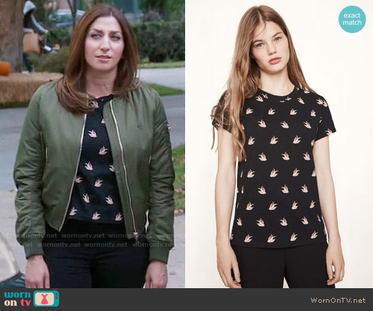 Maje Tami Tee worn by Chelsea Peretti on Brooklyn Nine-Nine