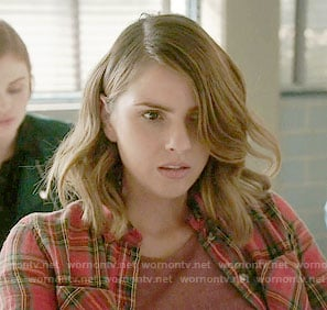 Malia's red plaid shirt on Teen Wolf