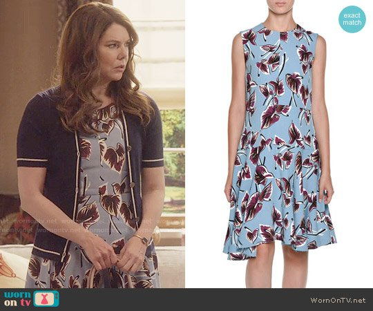 Marni Dropped-Waist Floral-Print Dress worn by Lauren Graham on Gilmore Girls