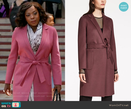 MaxMara Unanime Coat worn by Viola Davis on HTGAWM